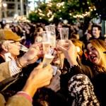 Feliz 2016. Fiesta de fin de año en Plaza de España. Oto