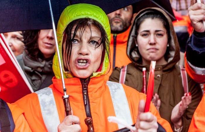 Badajoz, Manifestación contra el cierre de la mina de Aguablanca. OTO