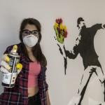 Banksy en la calle la Bomba. pkp