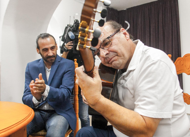 Oto. Miguel Vargas y Jesús Ortega en el Centro Regional de Flamenco de Extremadura,