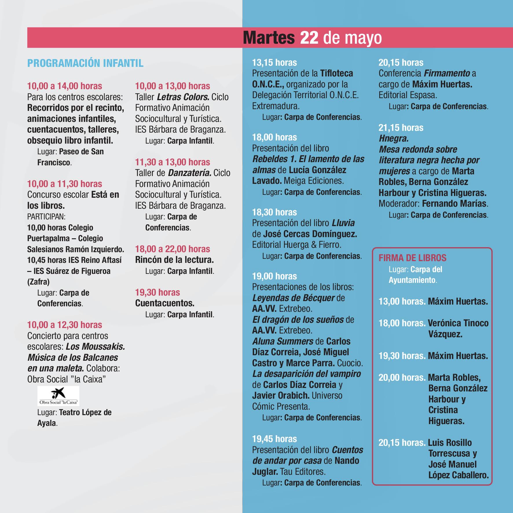 PROGRAMA 37 FERIA DEL LIBRO
