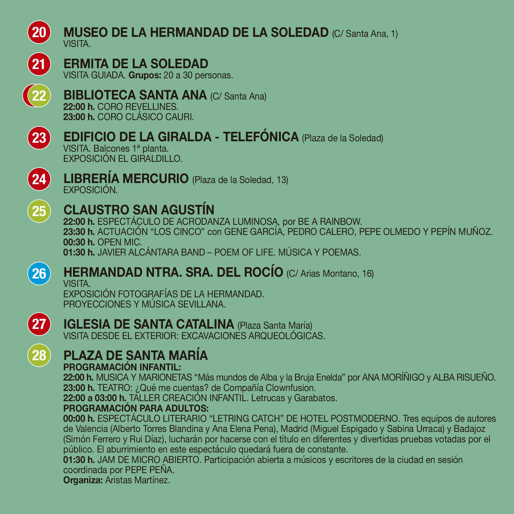 PROGRAMA LA NOCHE EN BLANCO 2017