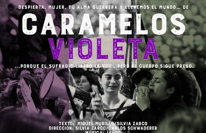 Cartel CARAMELOS VIOLETA_(Redes)