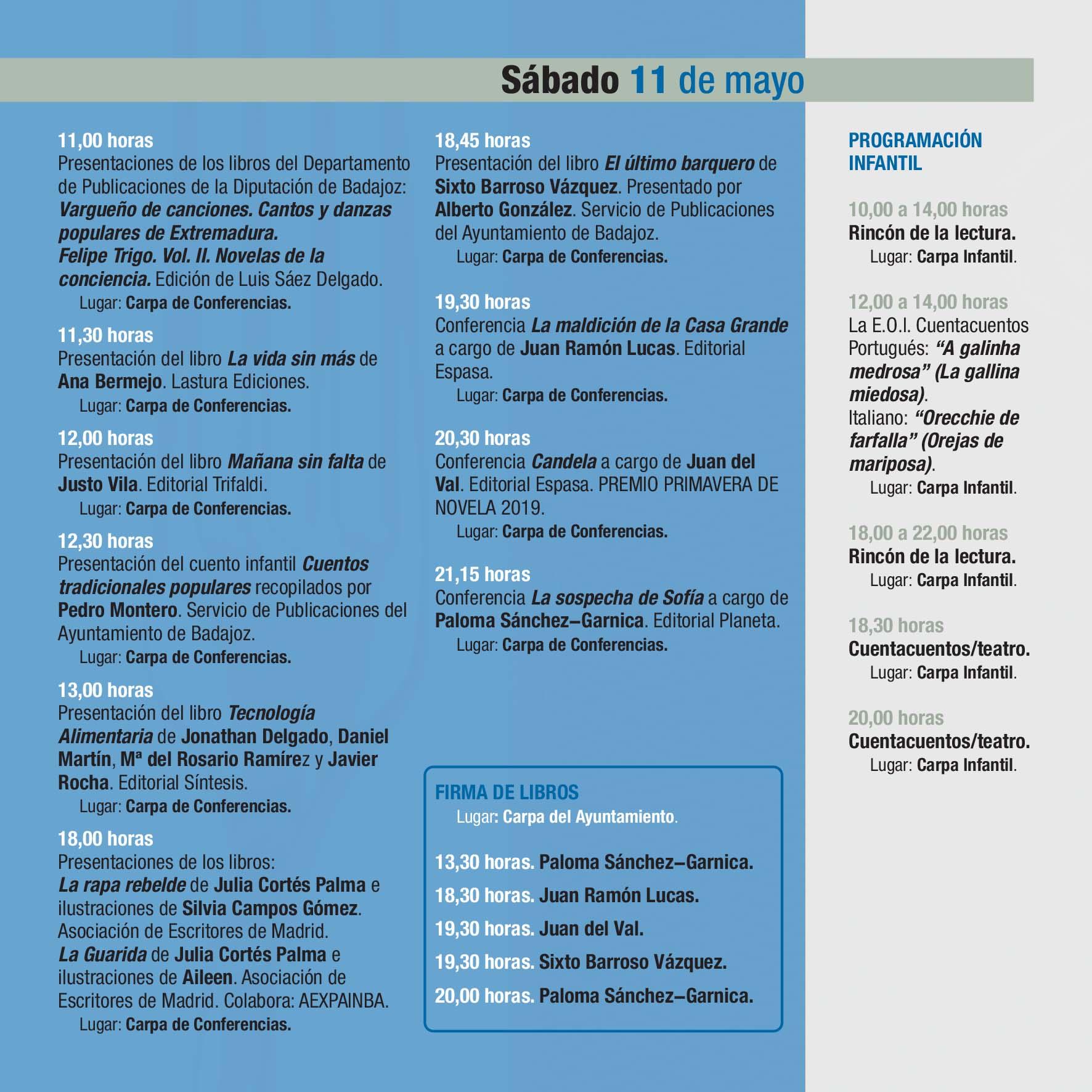 PROGRAMA 38 FERIA DEL LIBRO