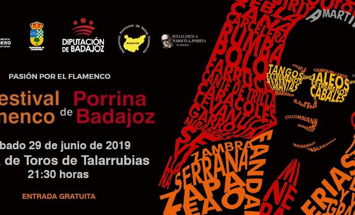 Cartel Festival Porrina de Badajoz 2019