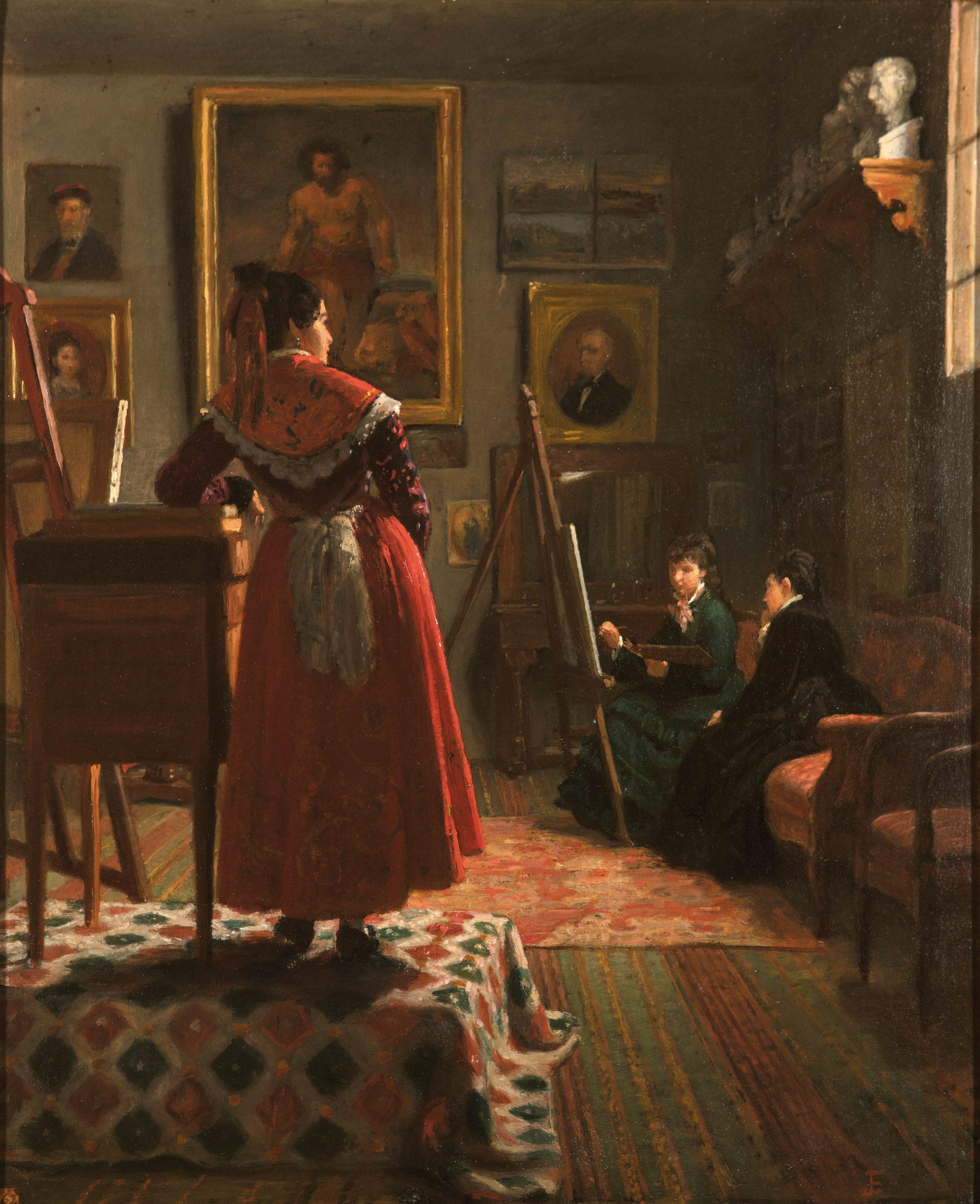 15-Interior-de-un-taller-Joaquin-Espalter-y-Rull-1809-1880-Oleo-sobre-lienzo-h.-1875-–-1880-Madrid-Museo-Nacional-del-Romanticismo-scaled