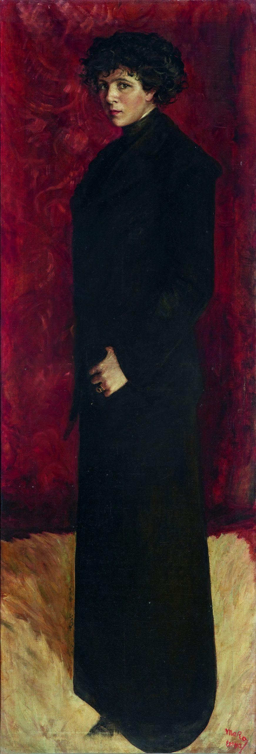 16-Autorretrato-de-cuerpo-entero-Marisa-Roesset-Maria-Luisa-Roesset-y-Velasco-1904-–-1976-Oleo-sobre-lienzo-1912-Madrid-Museo-Nacional-Centro-de-Arte-Reina-Sofia-scaled