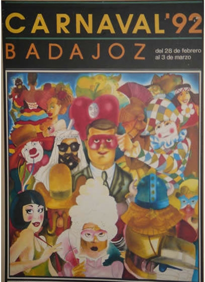 cartel-carnaval-badajoz-culba-1992