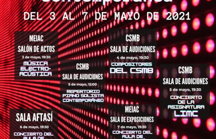Cartel Programa XIII Ciclo Música Contemporánea atualizado