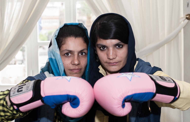 Boxing for free. Sadaf y su hermana Shabnam